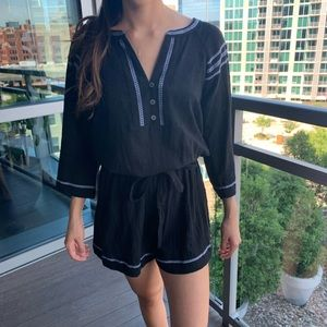 Black Romper with White detailing